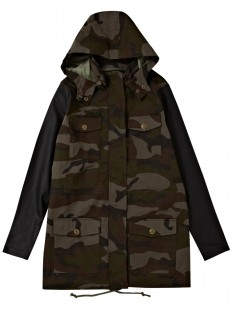 Leatherette Army Parka