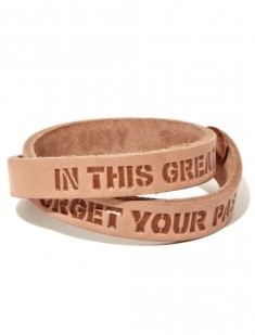 GS Leather Bracelet