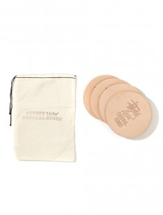 GS Leather Coaster Set