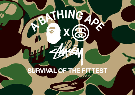 sneakers for cheap 1be3b bcf9e Stussy x BAPE  Survival of the Fittest   Stussy   Official Website USA    Canada