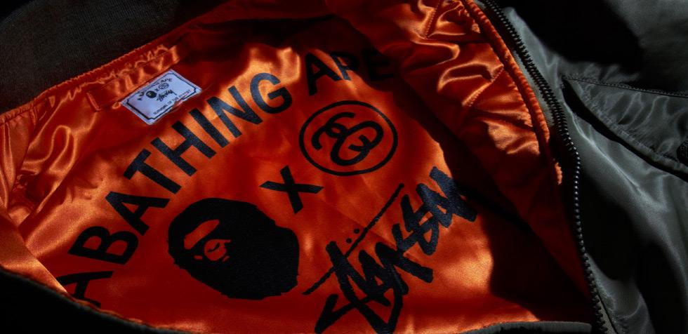 Stussy and A Bathing Ape Jacket Details