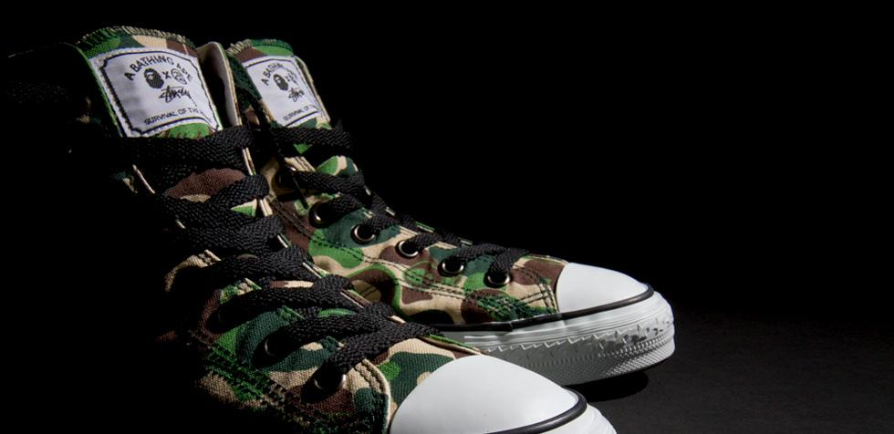 Stussy and A Bathing Ape Converse